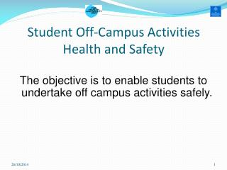 Student Off-Campus Activities Health and Safety