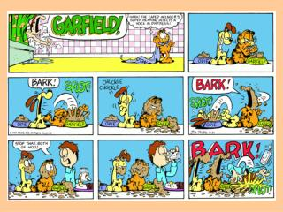 So what are Garfield and Odie saying?