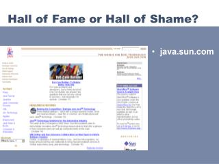 Hall of Fame or Hall of Shame?