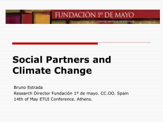 Social  Partners and  Climate Change