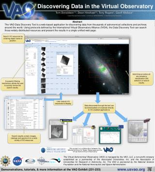 Discovering Data in the Virtual Observatory