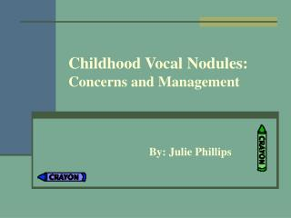 Childhood Vocal Nodules: Concerns and Management