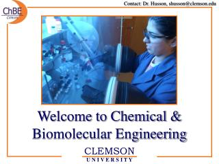 Welcome to Chemical & Biomolecular Engineering