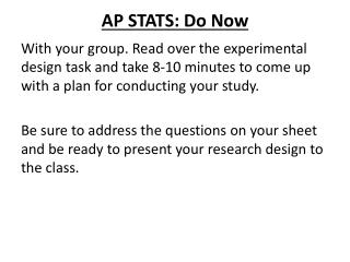 AP STATS: Do Now