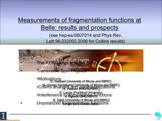 Measurements of fragmentation functions at Belle: results and prospects
