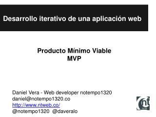 Desarrollo iterativo de una aplicación web