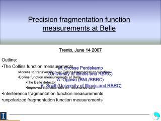Precision fragmentation function measurements at Belle