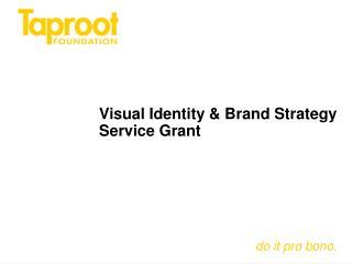 Visual Identity & Brand Strategy Service Grant