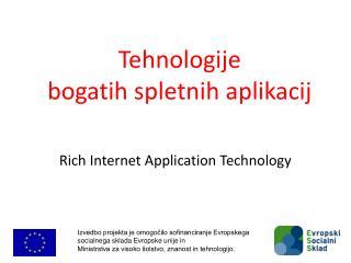 Tehnologije  bogatih spletnih aplikacij
