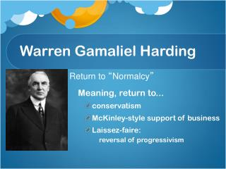 Warren Gamaliel Harding