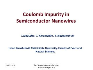 Coulomb Impurity in Semiconductor Nanowires
