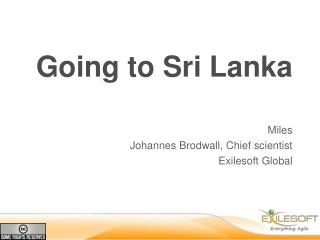 Going to Sri Lanka