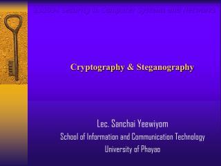Cryptography & Steganography