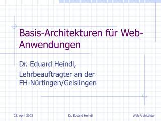 Basis-Architekturen für Web-Anwendungen