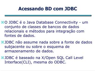 Acessando BD com JDBC