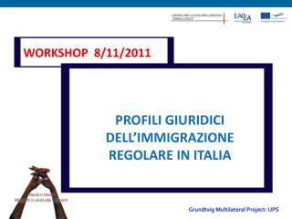 PROFILI GIURIDICI DELL'IMMIGRAZIONE REGOLARE IN ITALIA