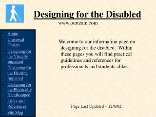 Designing for the Disabled ourteam