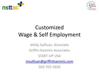 Customized  Wage & Self Employment