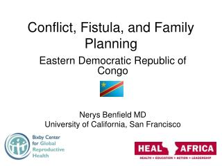 Conflict, Fistula, and Family Planning