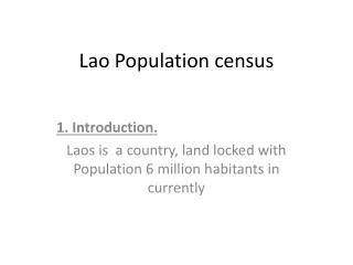 Lao Population census