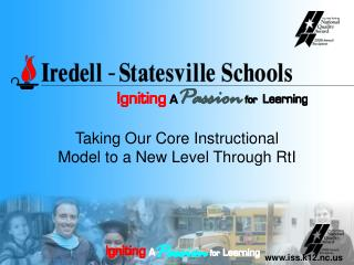Taking Our Core Instructional Model to a New Level Through RtI