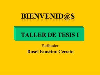 TALLER DE TESIS I