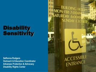 Disability Sensitivity