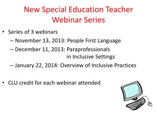 New Special Education Teacher Webinar Series