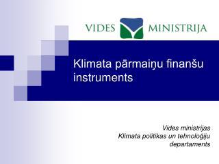 Klimata parmainu finan u instruments
