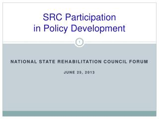 SRC Participation  in Policy Development