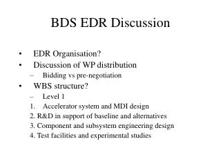 BDS EDR Discussion