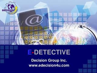 E - DETECTIVE