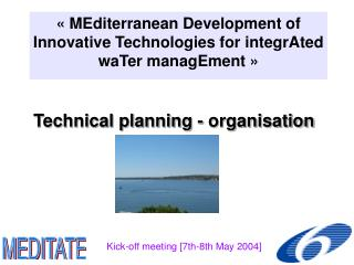 Technical planning - organisation