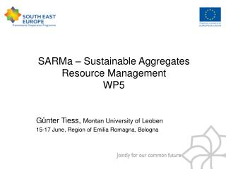 SARMa � Sustainable Aggregates Resource Management WP5