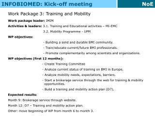 INFOBIOMED: Kick-off meeting
