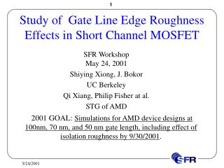 Study of  Gate Line Edge Roughness Effects in Short Channel MOSFET