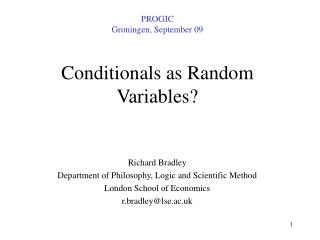Conditionals as Random Variables?