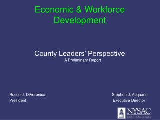 Economic & Workforce Development
