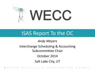 ISAS Report To the OC