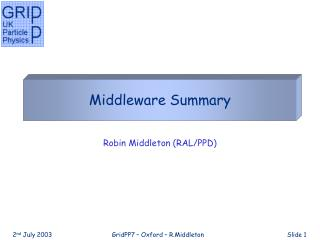 Middleware Summary