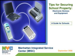 Tips for Securing School Property: Electronic Devices and Equipment