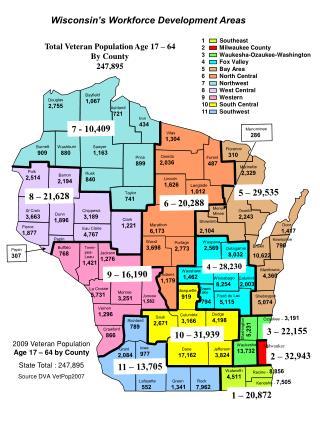1         Southeast 2         Milwaukee County 3         Waukesha-Ozaukee-Washington