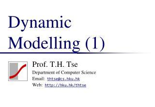 Dynamic Modelling (1)