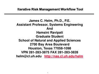 Iterative Risk Management Workflow Tool