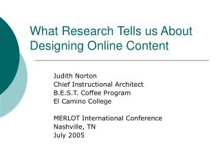 What Research Tells us About Designing Online Content