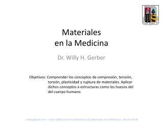 Materiales en la Medicina