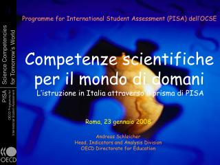 Programme for International Student Assessment (PISA) dell'OCSE
