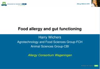 Food allergy and gut functioning