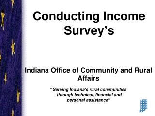 Conducting Income Survey's