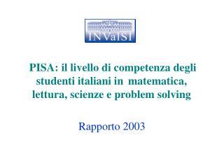 Rapporto 2003